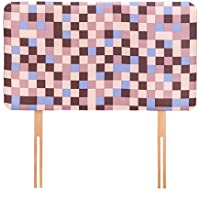 Ready Steady Bed® Brown Pixels Design Children's Single Headboard 3ft Bed Size Foam Upholstered