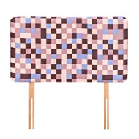 Ready Steady Bed Brown Pixels Design Children's Single Headboard 3ft Bed Size Foam Upholstered