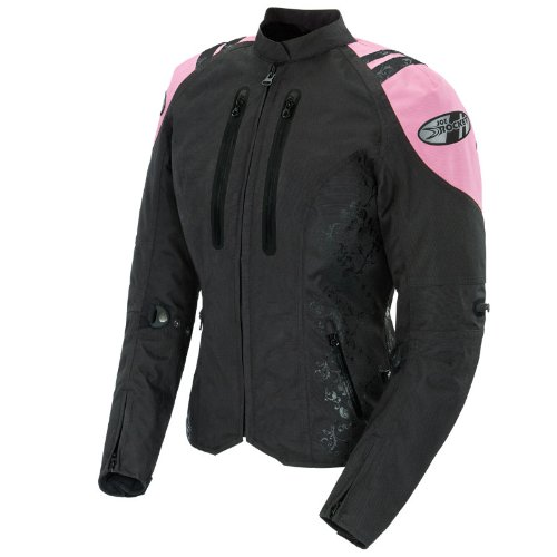 Joe Rocket Atomic 4.0 - Womens Motorcycle Jacket - Black/Pink - MD