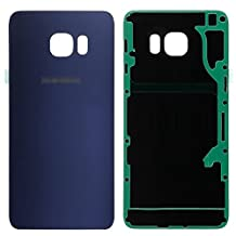 Galaxy S6 Edge Plus Back Case Glass, Original OEM Battery Door Back Cover Rear Glass Panel with Adhesive Sticker Replacement for Samsung Galaxy S6 Edge Plus(Blue)
