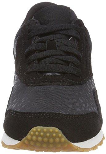 Reebok Damen Klassieke Nylon Slank Tekst Lux Sneaker Schwarz (zwart / Wit / Tandvlees)