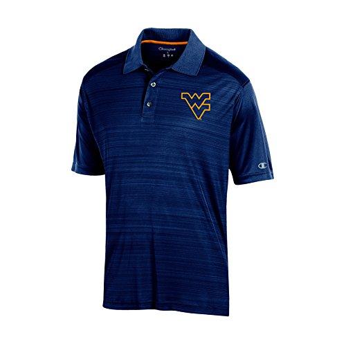 - NCAA West Virginia Mountaineers Adult Men Short Sleeve Colorbocked, Medium, Navy