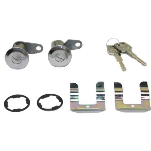 Door Lock Cylinder compatible with Galaxie 500 62-74 / Granada 75-80 Door Lock Cylinder Complete Kit Chrome