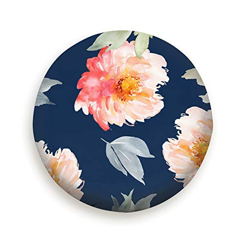 fudin Summer Watercolor Flowers Handmade Nature Spare Wheel Tire Cover Polyester Universal Wheel Covers for Trailer RV SUV Truck Camper Travel Trailer - Innocence Bouquet