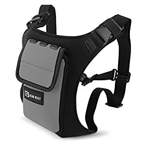 Gear Beast Running Backpack Vest Cell Phone and Accessories Holder Lightweight Pack with Key Card ID Holder For Running Jogging Cycling Fits iPhone X 8 7 6s 6 Plus Galaxy S6 S7 Edge S8 Plus Note 8
