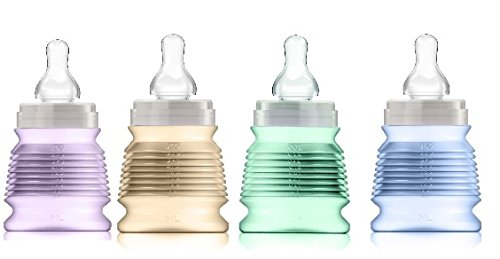 KIT 4 BIBIGO 40% Organic Milk Feeding bottles.Unique