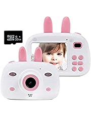 $36 » Gmlmes Kids Video Camera Digital Rabbit Camera for Girls Boys Toddlers 3-10 Year Old Birthday Gifts 1080P HD Shockproof Rechargeable Video Recorder Player with 2.4 Inch IPS Screen (Pink)
