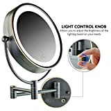 Ovente Wall Mounted Vanity Makeup Mirror 8.5 Inch