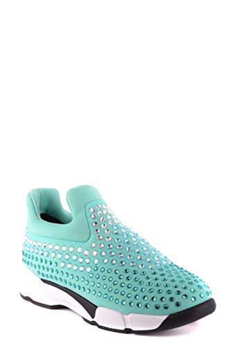 Pinko Azzurro Slip Donna On Sneakers MCBI242223O Tessuto q7afzqU