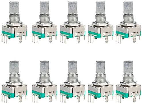 5PCS Rotary Encoder With Switch EC11 Audio Digital Potentiometer Han/_syMAQE