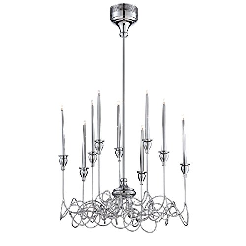 (Eurofase 26346-014 Candela 9-Light Chandelier, Chrome)
