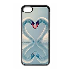 ALICASE Diy Hard Shell Case Swan For Iphone 5C [Pattern-1] hjbrhga1544