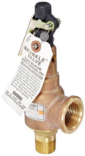 Kunkle 6010EDE01-AM0100 Bronze ASME Safety Relief Valve for Steam, EPR Soft Seat, 100 Preset Pressure, 3/4