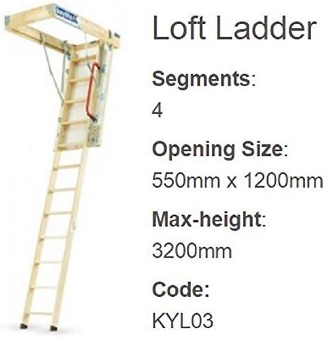 Keylite madera MADERA LOFT escalera - KYL03 550x1200x3.2m: Amazon.es: Bricolaje y herramientas