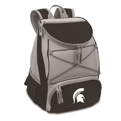 Michigan State Picnic Backpack (PTX Backpack Black/Michigan State Univ Spartans by Picnic Time)