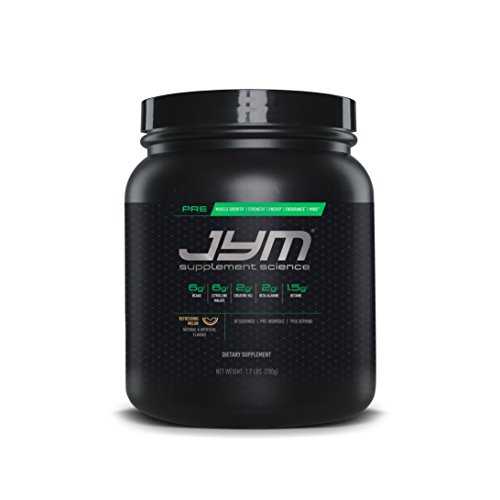 JYM Supplement Science, PRE JYM, Refreshing Melon , Pre-Workout with BCAA's, Creatine HCl, Citrulline Malate, Beta-alanine, Betaine, Alpha-GPC, Beet Root Extract and more, 30 Servings