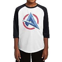 Youth Boys & Girls Ali-A 3/4 Sleeve Baseball Raglan Tee Jersey
