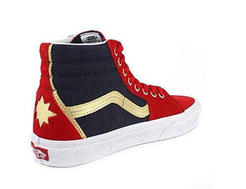 Captain Shoe On Unisex Skate Slip Vans Classic White True Marvel Checkerboard axA1wCWqW0