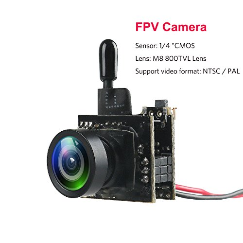 Cheap Mini FPV Camera 5.8G 25mW 40CH VTX 800TVL CMOS NTSC/PAL Video Transmitter for Micro FPV Multicopter Racing Drone Like Tiny Whoop Blade Inductrix
