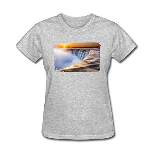 - XingL Women's Niagara Falls Design Short Sleeve T Shirt