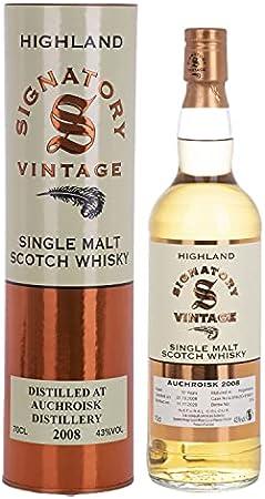 Signatory Vintage Auchroisk 12 Years Old Highland Single Malt 2008 43% Vol. 0.7L In Giftbox - 700 ml