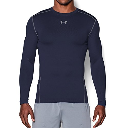 Navy Under Armour (Under Armour Men's ColdGear Armour Compression Crew, Midnight Navy/Steel, Large)