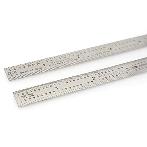 - 5R Scale 6 Inch Machinist Ruler 10th 100th 32th 64th Flex Rule Flexible Stainless Ruler