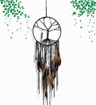 Mr.garden Handmade the Tree of Life Dream Catcher Car Wall Hanging Ornament Create Birthday or Valentine's Day gift