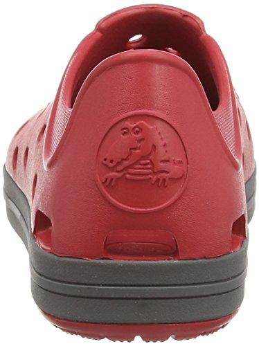 crocs Bumper Toe - Zapatillas de material sintético para niño Rosso (Pepper/Graphite)