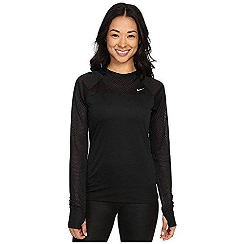 Nike Womens Run Fast Dri-Fit Hoodie (Medium, Black)