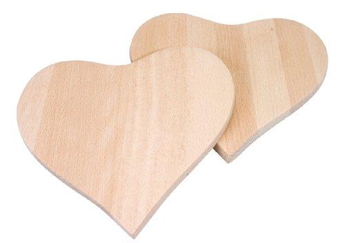 Pebaro FRUE2 - Frühstücksbrettchen Herzform, 2 Stück, 19 x 18 x 1 cm
