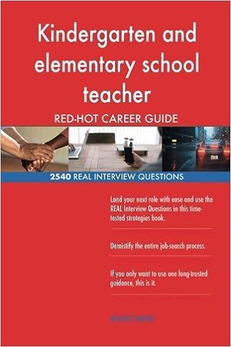 Kindergarten And Elementary School Teacher Red Hot Career