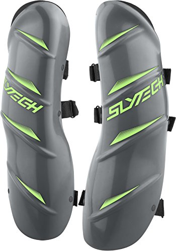 Slytech Ski Racing Shin Guards, Plastic Shin Guards, Shin Protection, Ski Racing Protection, Grey, (Slytech Shin Guards)