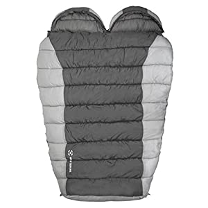 Winterial Double Mummy Sleeping Bag Camping Backpacking Warm 2 Person Double Sleeping Bag