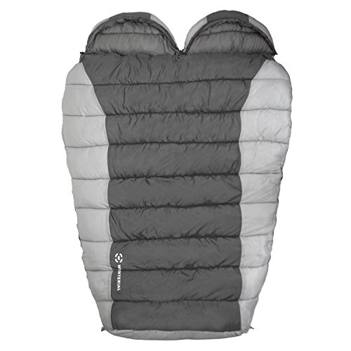 Winterial Double Mummy Sleeping Bag, Camping, Backpacking, Warm, 2 person, Double Sleeping Bag
