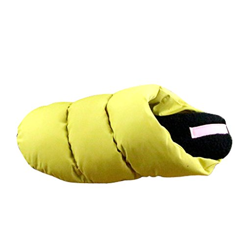 Geachte Tijd Vrouwen Winter Indoor Slaapkamer Vloer Huis Slippers Geel