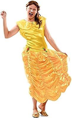 EUROCARNAVALES Disfraz de Princesa Bella para hombre: Amazon.es ...