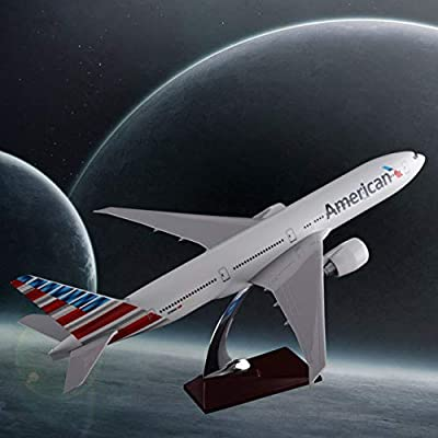 XuBa 47cm Resin Boeing 777 American Airlines Airplane Model United States Airways B777 Airbus Model Aero Travel Gift Aircraft Model