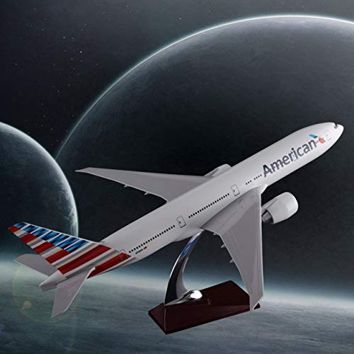 XuBa 47cm Resin Boeing 777 American Airlines Airplane Model United States Airways B777 Airbus Model Aero Travel Gift Aircraft Model Show Boeing 777 American Airlines