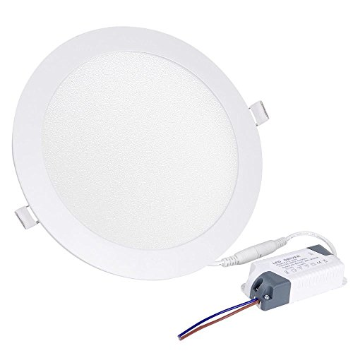 (Nicknocks 15W Round LED Recessed Ceiling Panel Fixture Down Light Lamp Cool White Bulb)