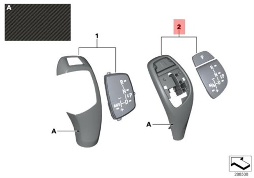 Genuine M Performance Trim Gear Selector Knob BMW 1 2 3 4 X3 X4 Series 2010- ()
