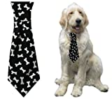 Calvin K-nine Necktie (Black, M) 8″ Long, My Pet Supplies