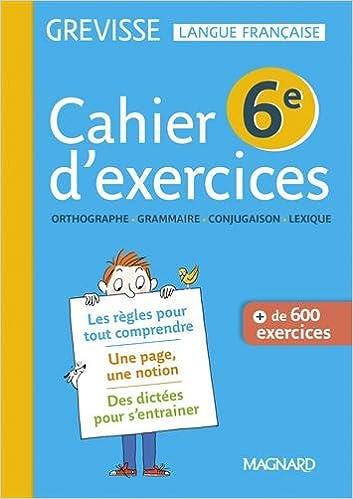 Amazon Fr Francais 6e Grevisse Cahier De L Eleve