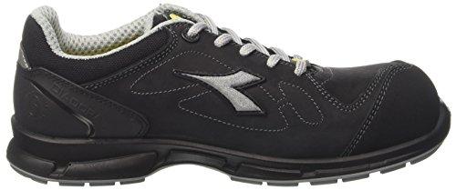 Super Sneaker tiefem Nacken Schwarz 42 8 Nero Samba mit UK Herren EU Diadora Cqwnxga5x