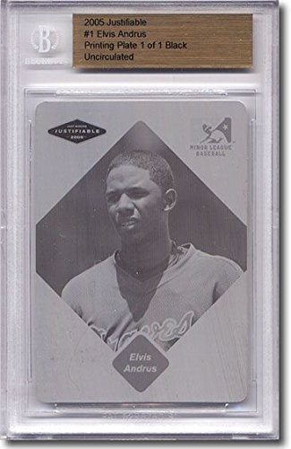 Just 2005 ELVIS ANDRUS Rookie Printing Press Plate RC BGS...