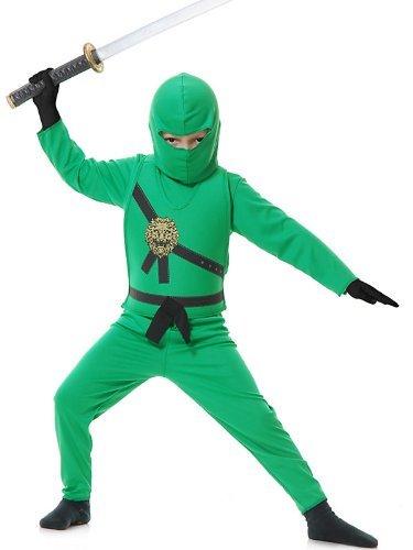 Ninja Avenger Costume Green (Jade Ninja Avenger Kids Costume Color: Green Size: Medium Model:)