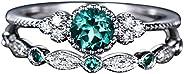 Women's Fashion Rhinestone Ring Couple Jewelry 1 Pair Rings Set Size