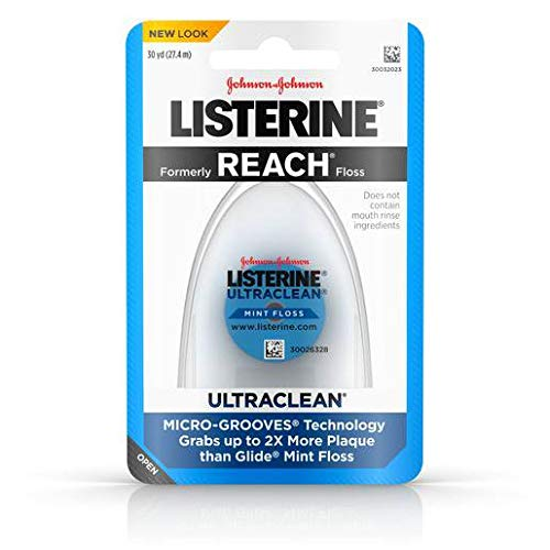 Johnson and Johnson Listerine Ultraclean Mint Floss 30 yd. Pack - 36 per case.