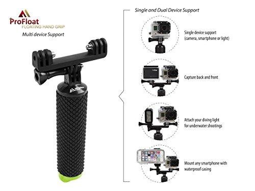 2 Session Silver HD and 1//4 Cameras SANDMARC Carbon Grip 3 Floating Waterproof Handle for GoPro Hero 6 3+ Hero+ LCD 4 Black Hero 5