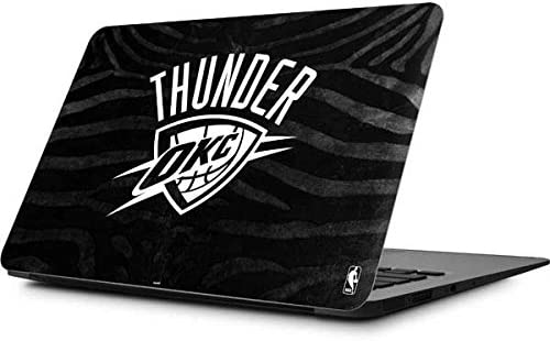 Skinit Decal Laptop Skin for MacBook Air 11.6 (2010-2017) - Officially Licensed NBA Oklahoma City Thunder Black Animal Print Design